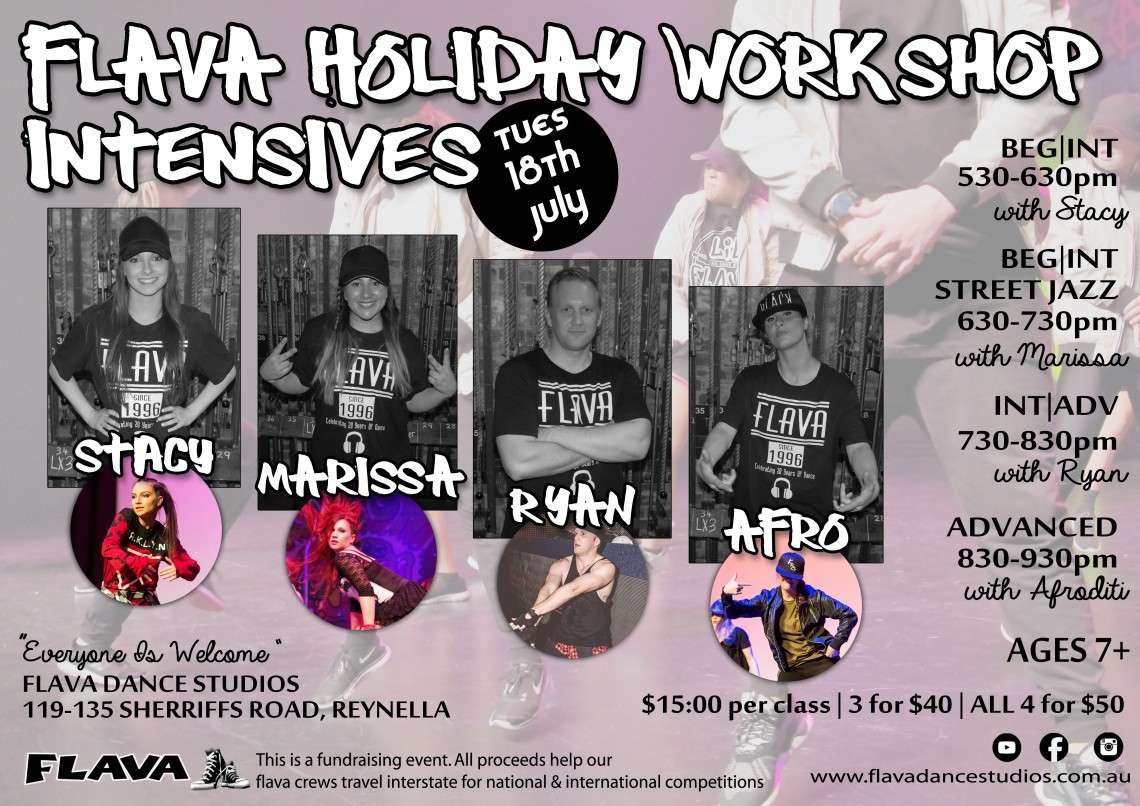 JULY HOLIDAY WORKSHOPS A3