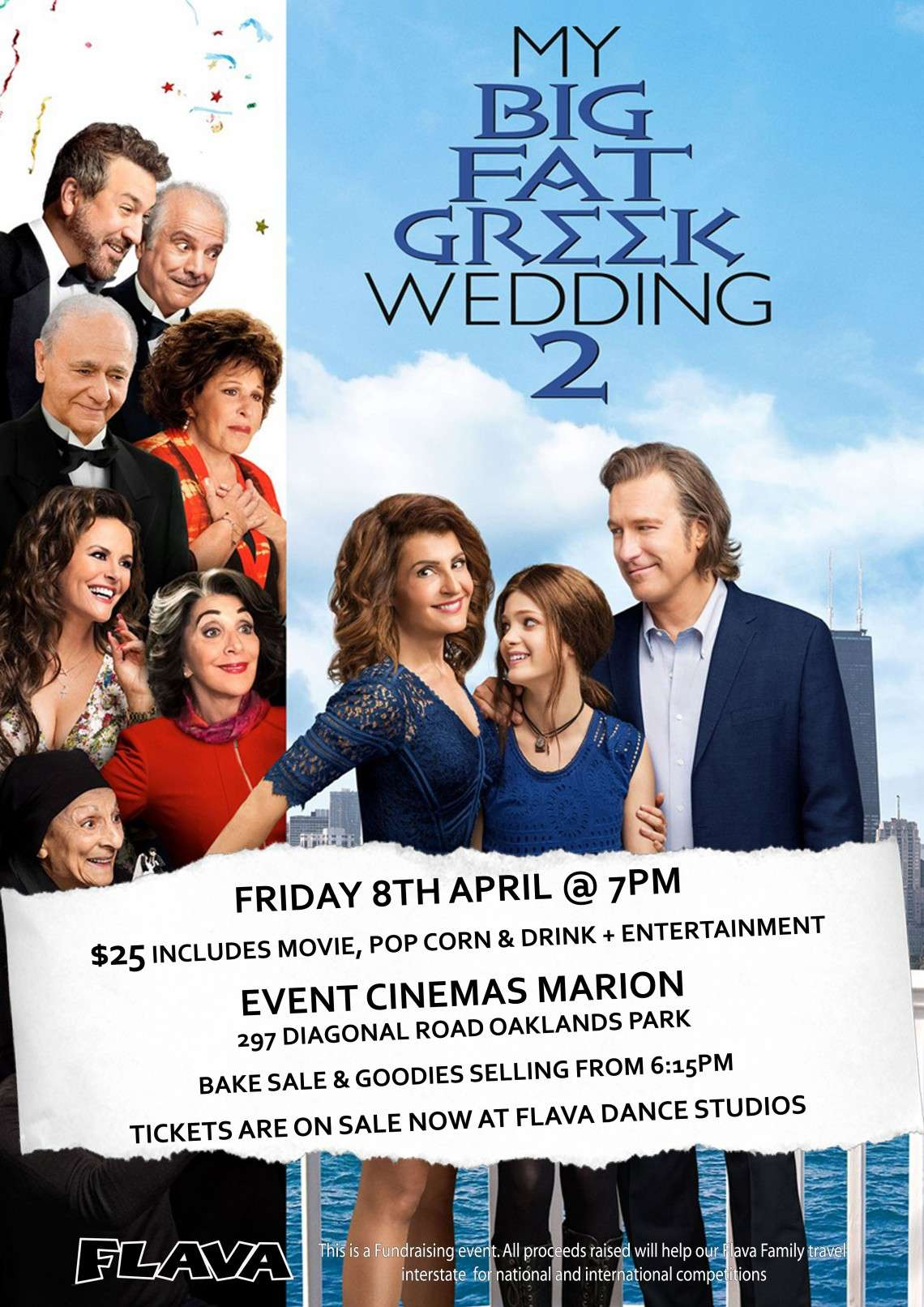 My Big Fat Greek Wedding 2.Movie Fundraiser My Big Fat Greek Wedding 2 Flava Dance